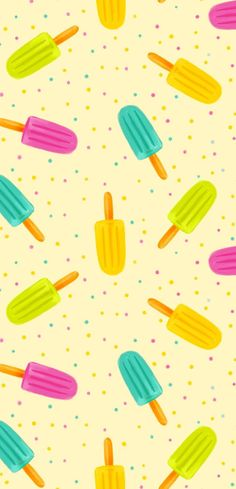 Colorful popsicles pattern for an online class virtual background or a homemade pattern to hang up. Summer Wallpaper, Cool Wallpaper, Pattern Wallpaper, Cute Backgrounds, Cute Wallpapers, Wallpaper Backgrounds, Phone Backgrounds, Iphone Wallpapers, Pattern Art