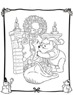 Disney Christmas Coloring Pages Picture 9 550x711 picture