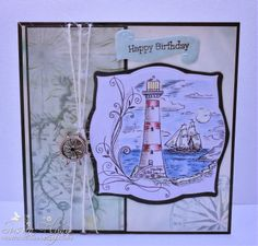 Male card made with Kanban Stamp Crafts To Sell, Home Crafts, Arts And Crafts, Paper Crafts, Kanban Crafts, Nautical Cards, Scrapbook Cards, Scrapbooking, Masculine Cards