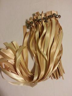 100 Twirling Wedding Wand Ribbon Bell Streamers ~ Send off Bell Wands ~ Divinity Braids ~ Wedding RIbbon Wands