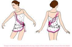 Il sagit dune robe de patinage artistique/baguette/twirling personnalisée qui peut être faite à toute mesure. Cette robe peut être faite dans