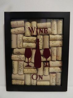 Wine Cork Shadow Box Display by KCLaneDesigns on Etsy, $35.00