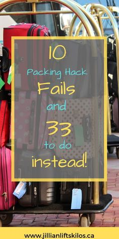 10 popular packing tips that don't work- plus what to do instead! Check out these tried and true tips and tricks to plan your next flight! Packing Hacks | Packing Tips | Travel Tips | Airport Tips | Flight hacks | Travel hacks