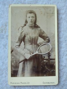 SALE Old Photo Tennis Late 1800 by Trinketicity on Etsy, $10.00