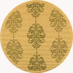 Accent your home decor with this Courtyard Royalty rug Fashionable floor rug features a transitional design Indoor/outdoor area rug is made of 100-percent fine-spun polypropylene pile