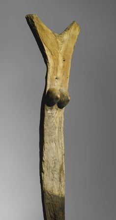 DOGON FEMALE ANTHROPOMORPHIC TOGUNA POST, MALI Height: 70 1/2 in (179 cm)