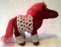 BOGO SALE Plush Valentine's Day Horse with by GrandmasCrochetCotta, $10.00