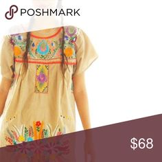 21e28c11bfc Handmade Ethnic Boho Mexican Dress Aida Coronado hand embroidery handmade  dress traditional design short or long