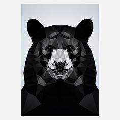 Geo Black Bear Print