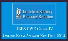 Download IBPS Clerk IV Exam Answer Sheet for Morning Evening Shift Paper Solution. IBPS CWE Clerk 4 Answer Key 14 20 21 27 Dec 2014 Expected Cut Off Marks.