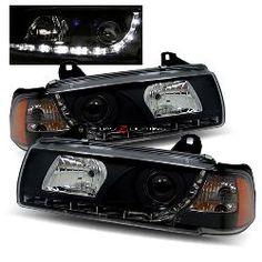 92-98 BMW E36 2 Door Halo Projector Headlights - Smoke