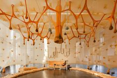 Ernesto Neto. Installation view: Paxpa - There is a Forest encantada inside of us, Arp Museum Bahnhof Rolandseck, 2014.