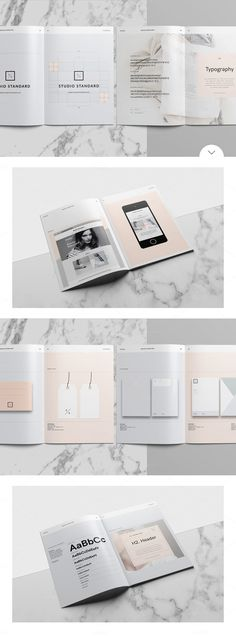 A Great Studio Branding Guidelines Template In Modern And Minimalist Brochure Design Whether For