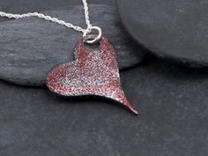 Red Heart pendant  Gothic hearts series  by FirepanJewellery