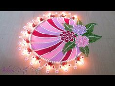 Beautiful Multi Colour Rangoli Designs With Colours - Festival Rangoli By Maya! - YouTube