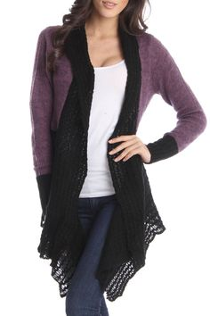 Olivia Collection Debbie Sweater In Purple