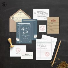 Build Your Own Invite Suite Printable Book Wedding Invitation Diy Library Lcs