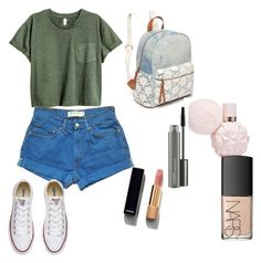"""Causal Friday"" by lildae on Polyvore featuring Levi's, Converse, Red Camel, NARS Cosmetics, MAC Cosmetics and Chanel"