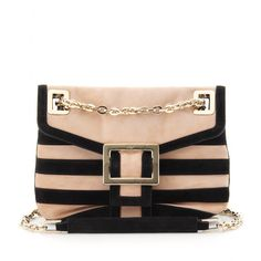 Roger Vivier Micro Metro Stripes Shoulder Bag Striped Shoulder Bags 4bd14cd7e3396