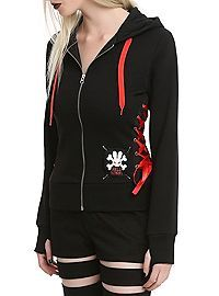 HOTTOPIC.COM - Hell Bunny Black Red Corset Hoodie