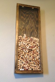Wine Cork Wall Display Ebony by CORKAHOLICcom on Etsy