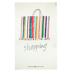 Bus shelter poster: Shopping | Alan Fletcher