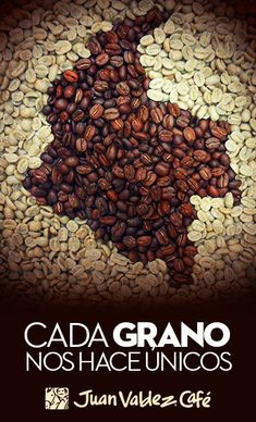 Cada Grano nos hace Unicos Colombian Coffee, Colombian Food, I Love Coffee, Coffee Art, Coffee Recipes, Dog Food Recipes, Cafe Amaretto, Coffee Origin, Colombia Travel