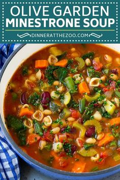 Olive Garden Minestrone Soup Copycat Recipe Page . Olive Garden Minestrone Soup Copycat Recipe Back For Seconds. BEST Minestrone Soup With VIDEO! Home and Family Crock Pot Recipes, Best Soup Recipes, Healthy Soup Recipes, Dinner Recipes, Cooking Recipes, Keto Recipes, Simple Vegetarian Recipes, Healthy Winter Recipes, Heart Healthy Soup