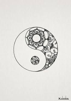 Resultado de imagem para ying yang mandala tattoo