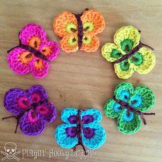 cute crochet butterflies