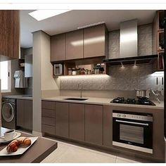Cozinha linda adoro está cores e este revestimento Projeto Luxury Kitchen Design, Kitchen Room Design, Kitchen Cabinet Design, Luxury Kitchens, Interior Design Kitchen, Home Kitchens, Kitchen Decor, Kitchen Modular, Modern Kitchen Cabinets