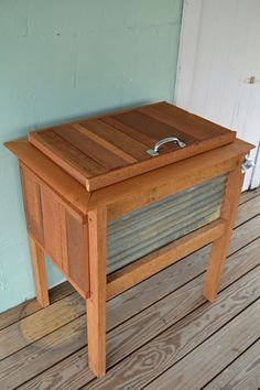 These wooden cooler stands have by far been our most favorite project. They require more time and creativity than the others, but the finished product is worth the effort! We found some old wood wi…