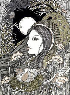 Anita Inverarity | INK on illustration board | Ostara