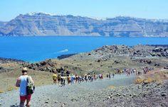 Volcano trip in Santorini, Greece