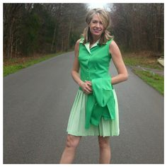 Check out this item in my Etsy shop https://www.etsy.com/listing/265599845/vintage-vibrant-grass-green-dress-white