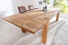 Massiver Esstisch WILD OAK 200-300cm inkl. 2 Ansteckplatten geölt hochwertige Wildeiche made in EU - Massiver Esstisch Wild Oak aus echter hochwertiger Wildeiche mit Wuchsrissen Holen Sie sich dieses