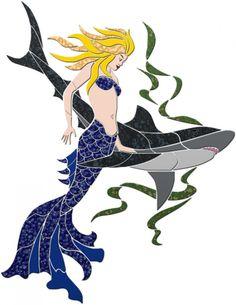 Mermaid and her shark <3