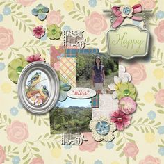 Pictures of my daughter.   Kit used:  My Happy Place by Studio Sherwood available at http://shop.scrapbookgraphics.com/My-Happy-Place.html