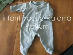 In the Little Stone Cape: Infant Footie Pajama Pattern; this might come in handy when adapting a pattern for Arlo's halloween costume.