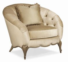 Schnadig Tatiana Traditional Upholstered Arm Chair with Tufted Back - Riverview Galleries - Upholstered Chair Durham, Chapel Hill, Raleigh