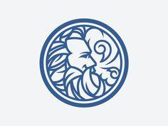 Beard h beard logo Art And Illustration, Graphic Design Illustration, Wind Logo, Beard Logo, Greek Mythology Tattoos, Logo Shapes, Typography Logo, Creative Logo, Cool Logo