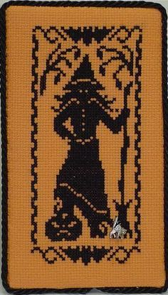 Halloween Silhouettes Witch - Cross Stitch Pattern