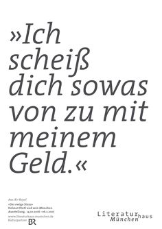 Plakat zur Ausstellung »Der ewige Stenz. Helmut Dietl und sein München« im Literaturhaus München ( 14.10. bis 26.2.2017)