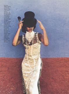Naomi Campbell by Ellen von Unwerth for Vogue March 1998