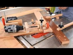 Bandsaw-on-a-dolly sawmill - YouTube