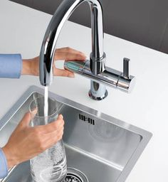 Sparkling water on tap. Thanks to GROHE Blue water filter faucet.#Grohefaucet & groheShower #grohe