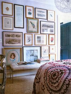 Sara Ruffin Costello | perfect art wall...i love the symmetry of these pictures. order instead of chaos.