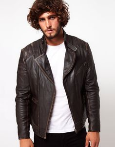 Leather Biker Jacket by ASOS.