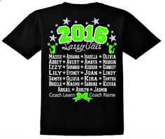 Let us design your team shirts! Be the best dressed team at the competitions. These are a great way to show support for your team and have a