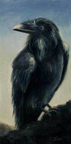 Original art for sale at UGallery.com | Raven by Pandalana Williams | oil painting | 24' h x 12' w